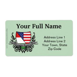 Bandeira Húngaro-Americana do protetor Etiqueta De Frete