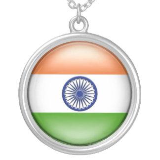 Bandeira indiana colar com pendente redondo