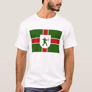 bandeira Inglaterra Robin Hood da região de Camiseta