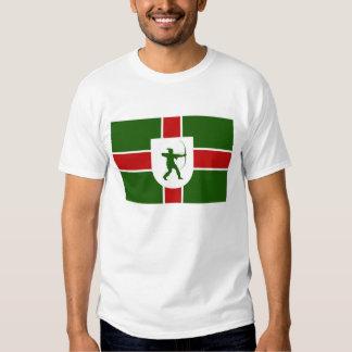 bandeira Inglaterra Robin Hood da região de Tshirt