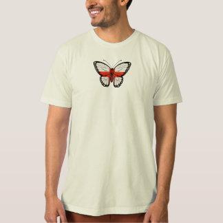 Bandeira inglesa da borboleta tshirt