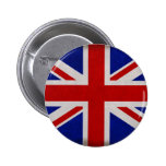 Bandeira Inglesa da Inglaterra texturizada Bóton Redondo 5.08cm