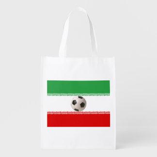 bandeira iraniana branca verde vermelha da bola de sacolas ecológicas
