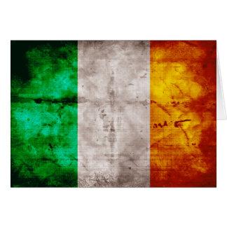 Bandeira irlandesa cartão de nota