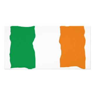 Bandeira irlandesa cartão com foto