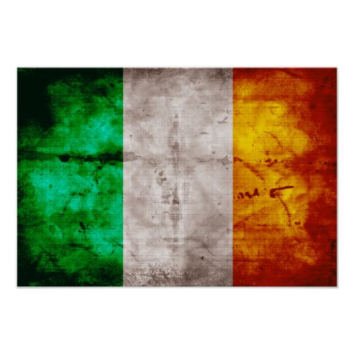 Bandeira irlandesa poster