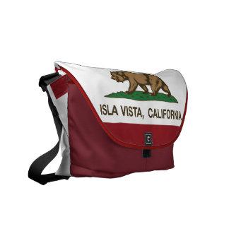 Bandeira Isla Vista do estado de Califórnia Bolsa Mensageiro