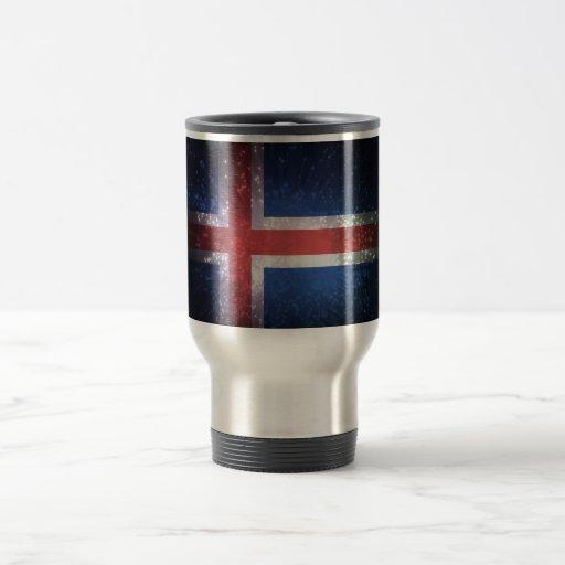 Bandeira islandêsa canecas