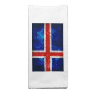 Bandeira islandêsa guardanapos de pano