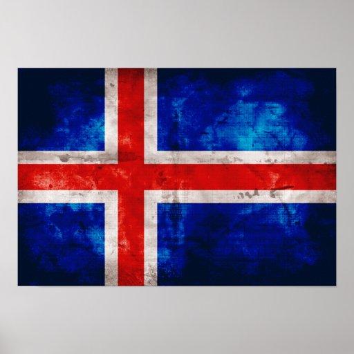 Bandeira islandêsa impressão