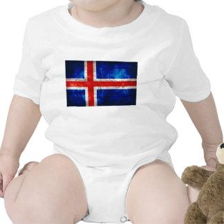 Bandeira islandêsa camisetas