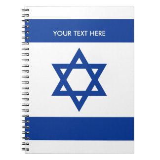 Bandeira israelita do caderno espiral feito sob