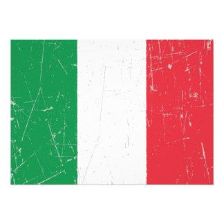 Bandeira italiana arrastada e riscada convite personalizados