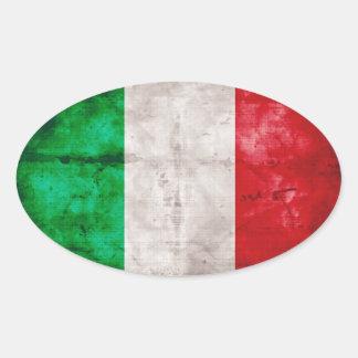 Bandeira italiana adesivos oval