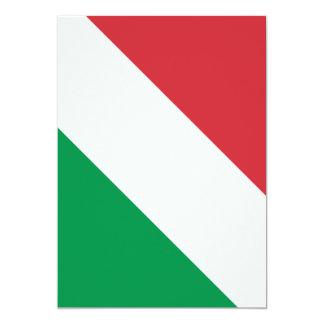 Bandeira italiana convite 12.7 x 17.78cm