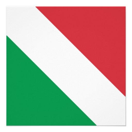 Bandeira italiana convites personalizados