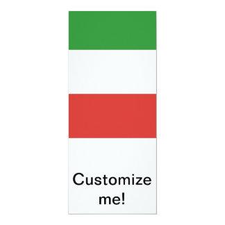 Bandeira italiana convite 10.16 x 23.49cm