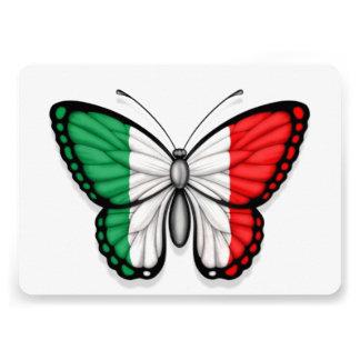 Bandeira italiana da borboleta convite personalizados