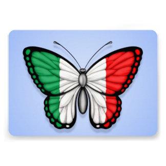 Bandeira italiana da borboleta no azul convites