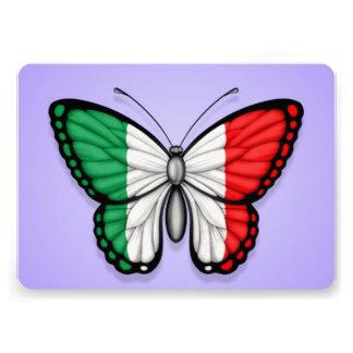 Bandeira italiana da borboleta no roxo convites
