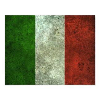 Bandeira italiana efeito de aço envelhecido convite 10.79 x 13.97cm