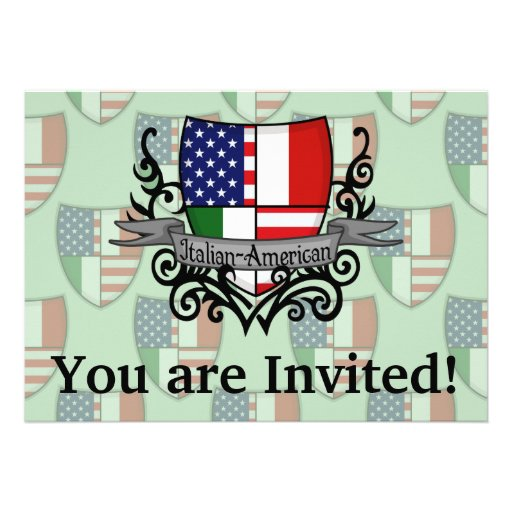 Bandeira Italiano-Americana do protetor Convite