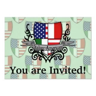Bandeira Italiano-Americana do protetor Convite 12.7 X 17.78cm