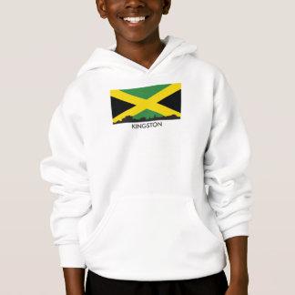 Bandeira jamaicana da skyline de Kingston Jamaica