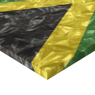 Bandeira jamaicana - enrugada impressão em canvas