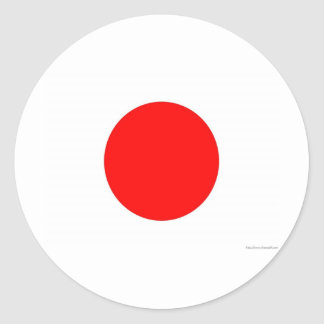 Bandeira japonesa adesivo redondo