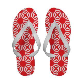 Bandeira japonesa do marinho sandalias de praia