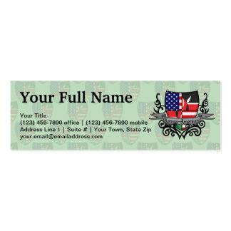 Bandeira Kenyan-Americana do protetor Modelo Cartão De Visita