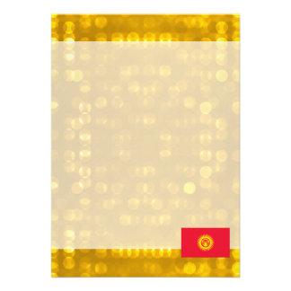 Bandeira kirguiz oficial convite 12.27 x 17.78cm
