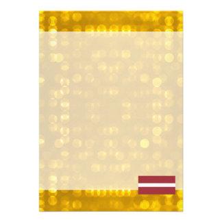 Bandeira letão oficial convite 12.27 x 17.78cm