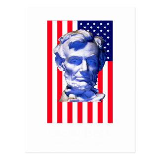 Bandeira Lincoln dos Estados Unidos o MUSEU Zazzle Cartão Postal