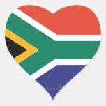Bandeira lisa de África do Sul Adesivos Em Forma De Corações