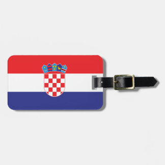 Bandeira lisa de Croatia Etiqueta De Bagagem