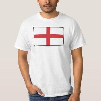 Bandeira lisa de Inglaterra T-shirts