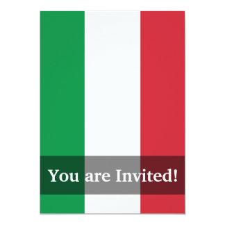 Bandeira lisa de Italia Convite 12.7 X 17.78cm