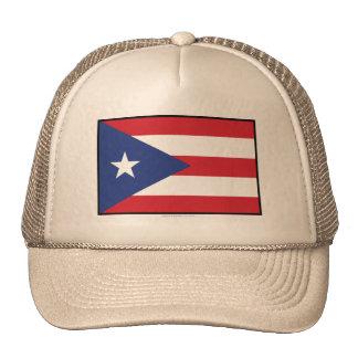 Bandeira lisa de Puerto Rico Boné