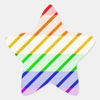 Bandeira listrada do orgulho gay adesito estrela