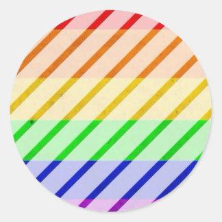 Bandeira listrada do orgulho gay adesivo
