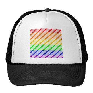 Bandeira listrada do orgulho gay bonés