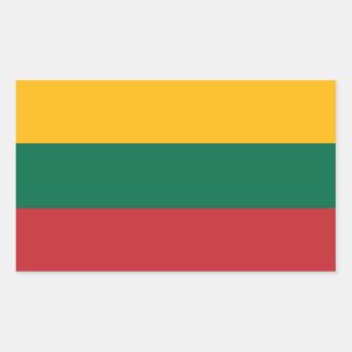 Bandeira lituana adesivo retangular