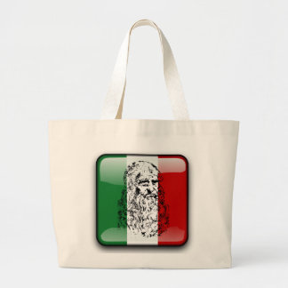 Bandeira lustrosa de Italia Bolsa Tote Grande