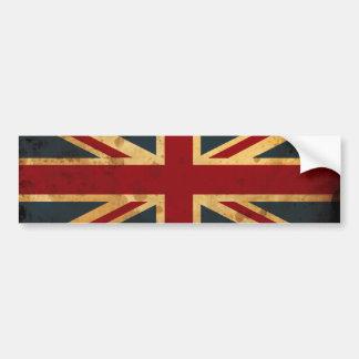 Bandeira manchada de Union Jack Reino Unido Adesivo Para Carro