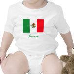 Bandeira mexicana de Torres Macacãozinho Para Bebês