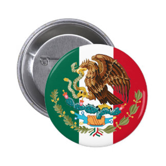 Bandeira mexicana e brasão do Pin do botão de Bóton Redondo 5.08cm