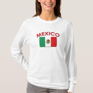 Bandeira mexicana (vermelha) camiseta