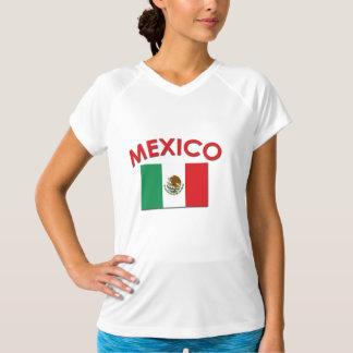 Bandeira mexicana (vermelha) tshirt